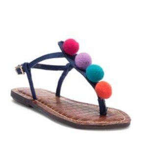 🥳Host Pick🥳Sam Edelman Multicolor Pom Pom sandal